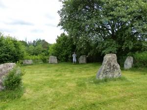 Ein Steinkreis, der als Grabstätte diente