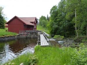 Die Mühle in Edet am Edsån. Der Edsån verbindet die Seen Unden und Viken miteinander.
